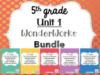 5th grade Unit 1 WonderWorks- BUNDLE!
