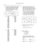 5th grade Unit test on data analysis