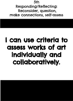 "5th grade: Visual Art- ""I Can"" Statements"