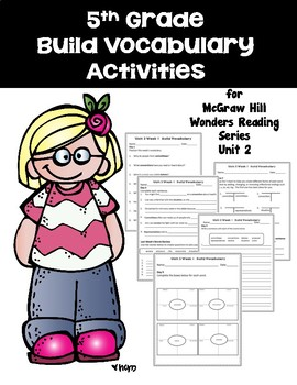 5th grade Build Vocabulary for McGraw Hill Wonders Reading Series -- Unit 2