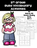 5th grade Build Vocabulary for McGraw Hill Wonders Reading