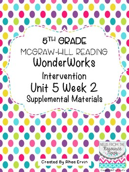 5th grade Reading WonderWorks Supplement- Unit 5 Week 2