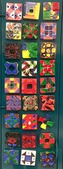 5th grade art lesson: Balsa Foam Quilt Patterns