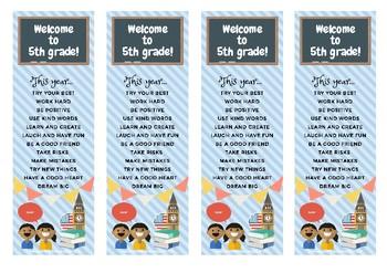 5th grade bookmark