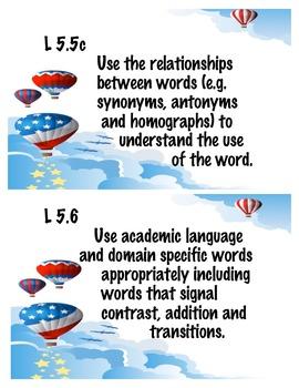 5th grade common core language standards