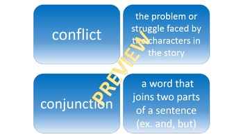 5th grade common core reading and writing vocabulary cards