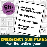 5th grade emergency sub plans: EVERYTHING you need for 10 days of absences