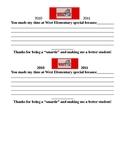5th grade graduating memories to teachers