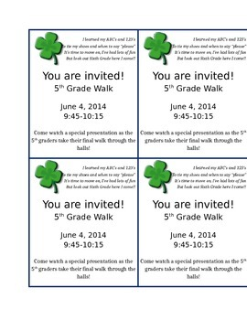 5th grade graduation invitation