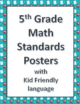 5th grade math standard posters