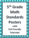 5th grade math standard posters