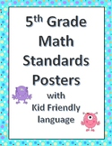 5th grade math standards dot frame