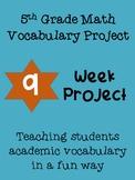 5th grade math vocabulary project