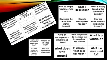 5th grade science question of the day pack