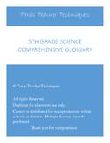 5th grade science vocabulary / glossary