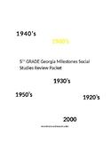 5th grade social studies Milestones Review Packet