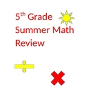 5th grade summer math review
