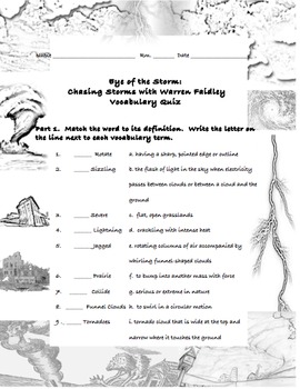 5th grade, theme 1 - Nature's Fury, Vocabulary Quizzes