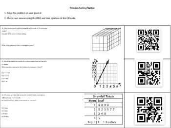 5th math QR problems