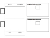 5th or 6th Math Spiral Sheets