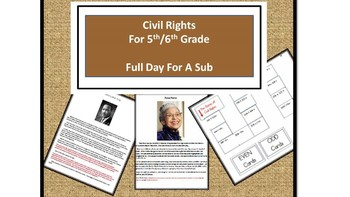 Civil Rights - Common Core Aligned Full Day For Your Sub