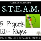 5th and 6th grade Math Art Project Bundle middle school math RECENTLY UPDATED