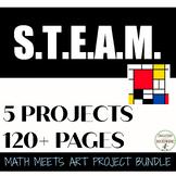 5th and 6th grade Math Art Project Bundle middle school math SAVINGS END NOV 30
