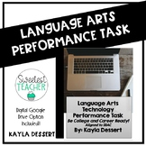 Distance Learning Language Arts Performance Task Editable Google Template