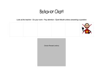 5x Behavior Chart