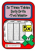 5x Times Table Daily Drills