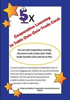 Quiz Quiz Trade 5x Times Table Cards