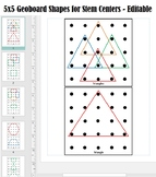 5x5 Geoboard Shapes for Stem Centers