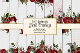 5x7 Burgundy Floral Frames, Borders, and Overlays clipart