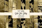 5x7 Gold Foil Flake Textures