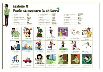 """Impara l'italiano in 6 mesi 6個月學會義大利語 A1-A2"" 第六課精美字卡 Lesson 6"