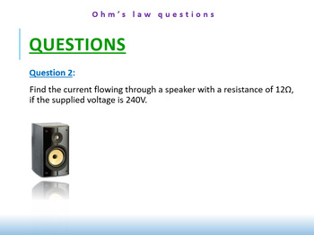 6.1) [ELECTRICITY] Ohm's Law - Questions For Students