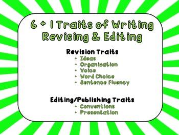 6 + 1 Traits Revising & Editing Traits