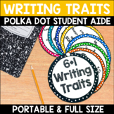 Writing Traits Student Aid and Posters in Polka Dots
