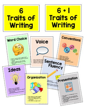 FREEBIE: 6 Traits of Writing - Posters