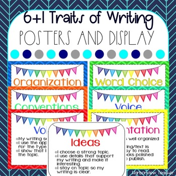 6+1 Traits of Writing Posters