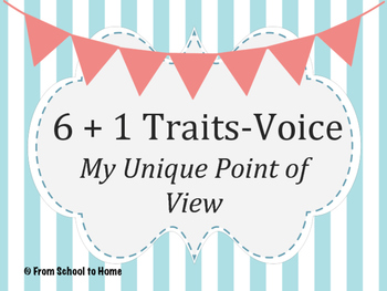6+1 Traits of Writing-Voice BUNDLE (Point-Of-View Lesson 1&2)
