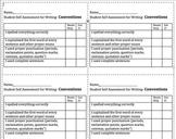 6 + 1 Writing- Student Self Assessment Rubrics