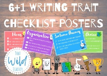 6+1 Writing Trait Checklist Posters