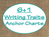 6+1 Writing Traits  Anchor Charts Signs/Posters (Burlap an