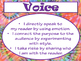 6+1 Writing Traits  Anchor Charts Signs/Posters (Tie Dye & Purple)