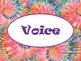 6+1 Writing Traits  Bulletin Board Signs/Posters (Tie Dye/Purple)