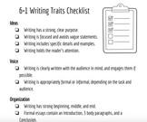 6+1 Writing Traits Checklist