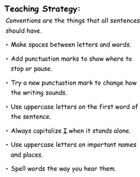 6 + 1 Writing Traits: Conventions Lessons (First Grade)