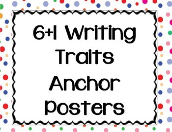 6 +1 Writing Traits Printables
