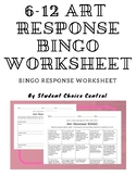 6-12 Art Response BINGO Menu - Cross-Curricular and TAB